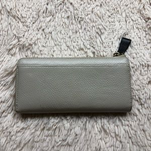 kate spade Bags - Kate spade taupe large wallet with bow